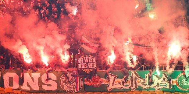 Rapid droht Fans jetzt mit Stadionverbot