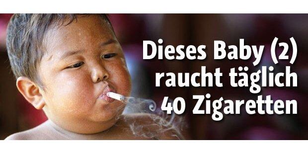 Dieses Baby raucht 40 Zigaretten am Tag