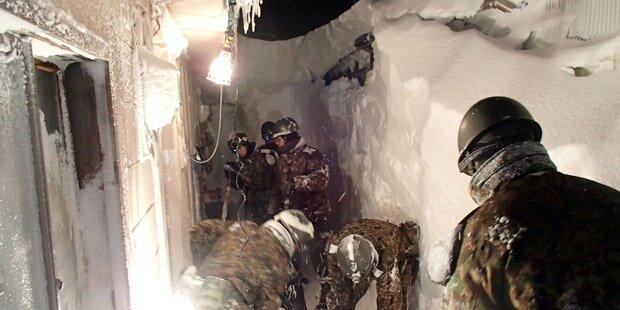 Norden Japans versinkt im Schnee