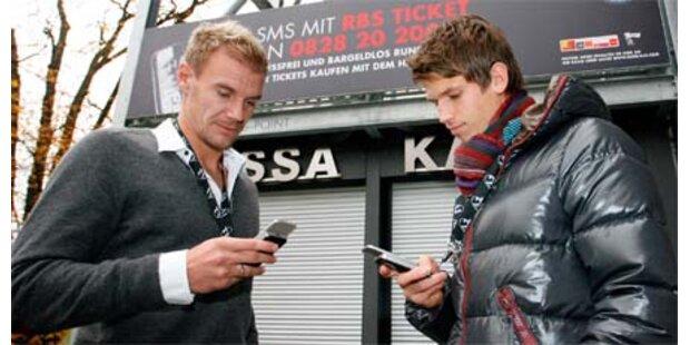 Fußballtickets mit dem Handy kaufen