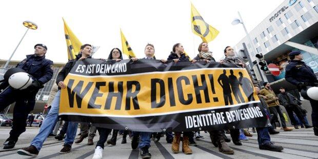 Identitäre wollen in Wien Pfefferspray verteilen