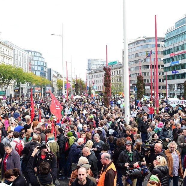 Großdemo für Flüchtlinge in Wien