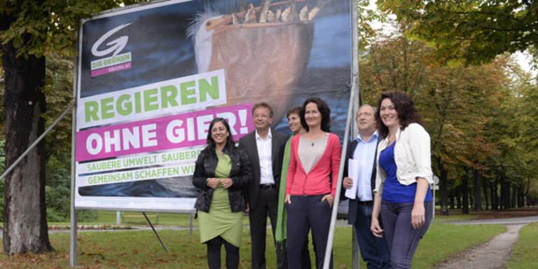 """Grüne plakatieren """"Regieren ohne Gier"""""""