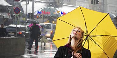 24 Stunden Dauerregen bis Samstag