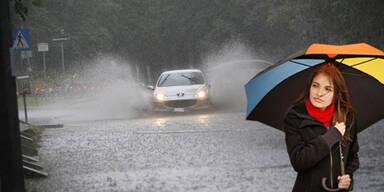 Extreme Regenfront kommt am Sonntag