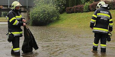 Starkregen setzt Braunau unter Wasser