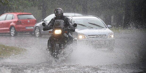 Heftiger Regen in weiten Teilen Österreichs