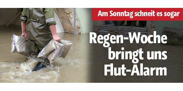 Regen-Woche bringt Flut-Alarm