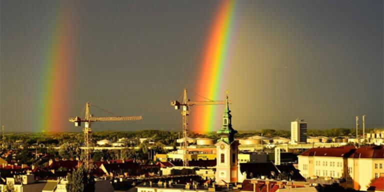 Regenbogen-Show rund um Wien