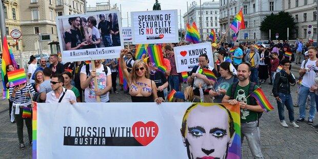 Zehntausende bei Wiener Regenbogenparade
