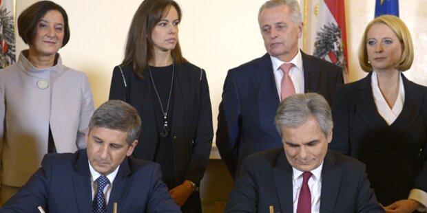 Kabinett Faymann II angelobt