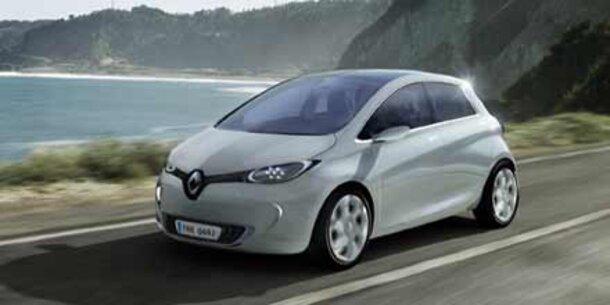 """Neuer Elektroflitzer """"ZOE"""" von Renault"""