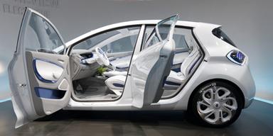 Das aufwendige Türkonzept des kompakten Elektroautos wird es aber eher nicht in die Serie schaffen. Bild: Reuters