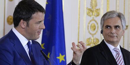 Renzi lobt Faymanns Büro-Ordnung