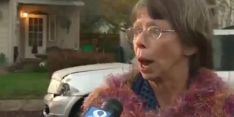 VIDEO: Alte Lady schockt Reporterin