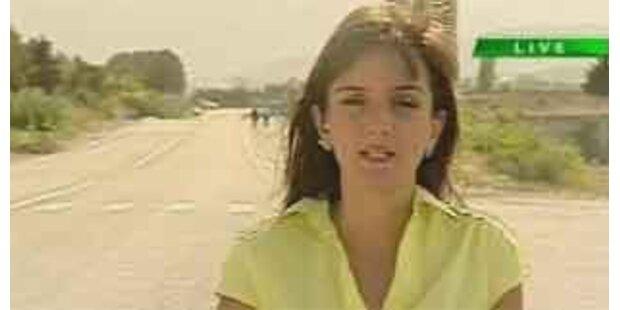 Reporterin live vor der Kamera angeschossen