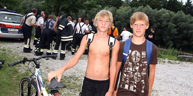 Buben (13) retteten Ertinkenden aus Fluss