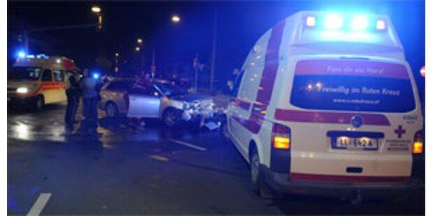 Auffahrunfall in Dornbirn mit zwei Verletzten