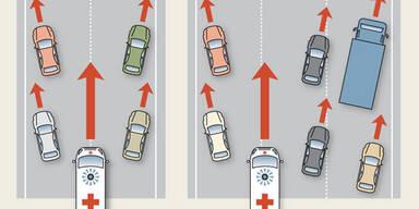 Was man über die Rettungsgasse wissen muss