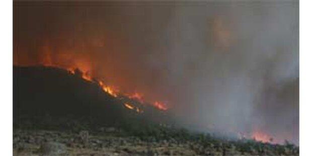 Waldbrand auf griechischer Urlaubsinsel Rhodos