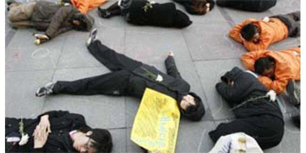 """""""Flashmobs"""" als neue politische Protestform"""