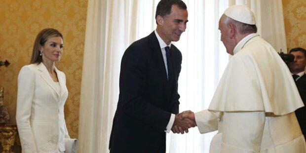 Letizia & Felipe: Besuch beim Papst