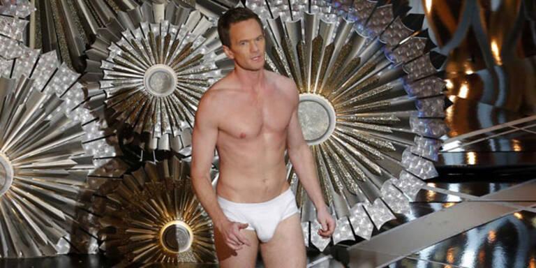 Huch! Oscar-Moderator Neil Patrick Harris stand plötzlich in Unterhosen da.