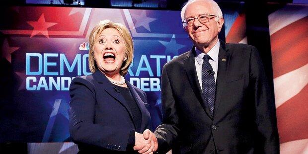 Sanders bleibt Clinton auf den Fersen