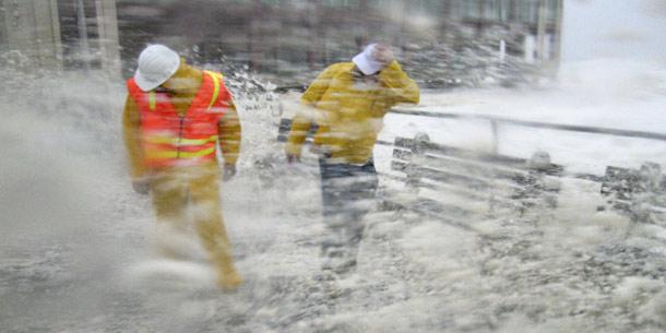 """Monster-Hurrikan """"Irene"""" trifft auf die Küste von New Jersey"""