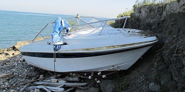 Betrunkene rasen mit Motorboot in Damm