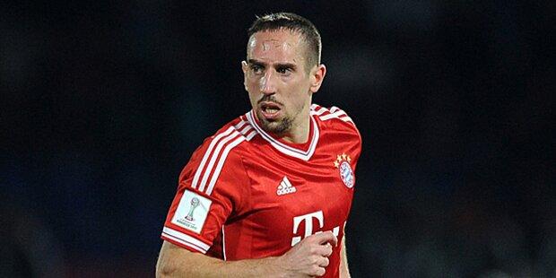 FC Bayern ohne Ribery gegen Arsenal