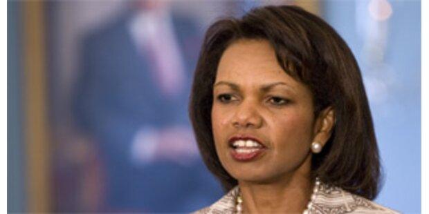 Rice fordert Reaktion seitens des Irans