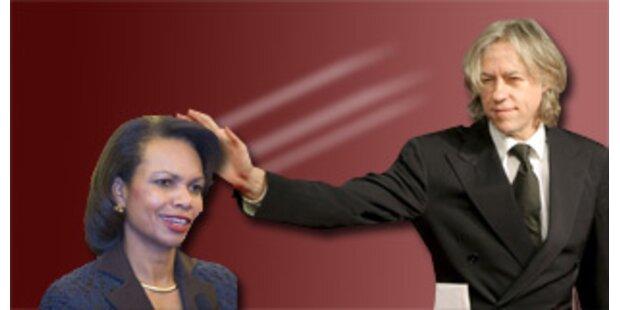 Bob Geldof will mächtiger als Condoleeza Rice sein