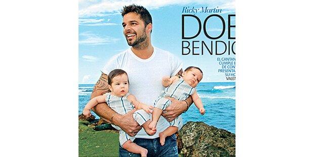 Ricky Martin zeigt seine süßen Zwillinge her