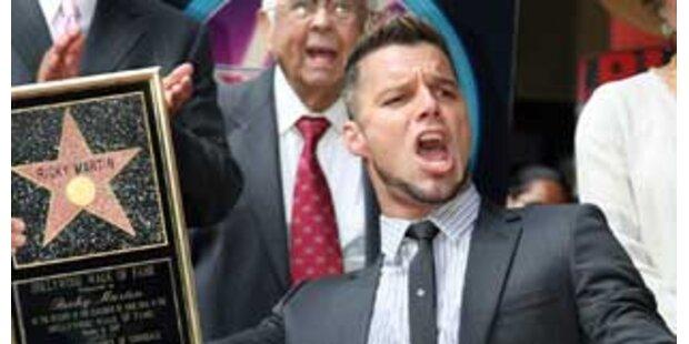 Ricky Martin mit Hollywood-Stern geehrt