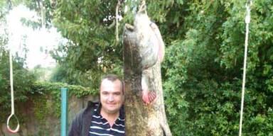 Fischer zog einen Riesen-Wels aus See