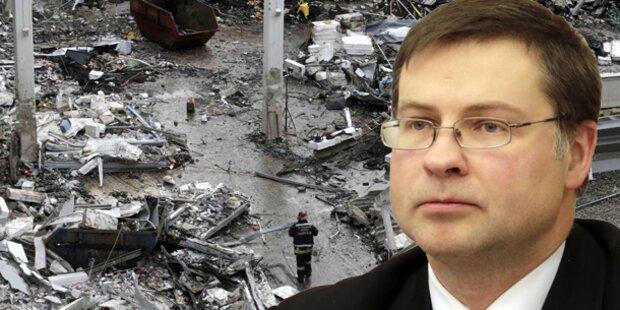 Dacheinsturz: Lettischer Premier tritt zurück