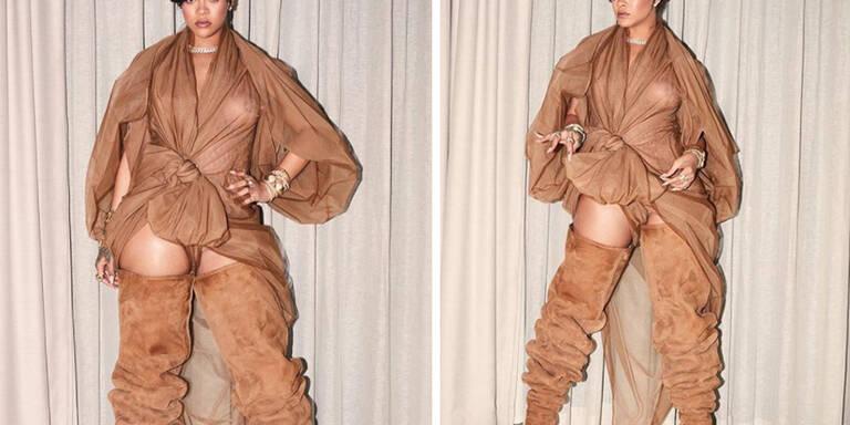 Rihanna floppt mit Monster-Stiefeln