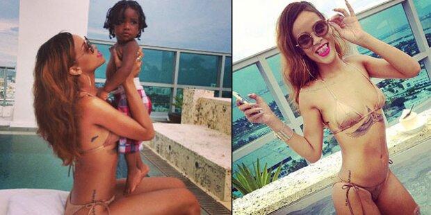 Rihanna macht im Urlaub gute Figur