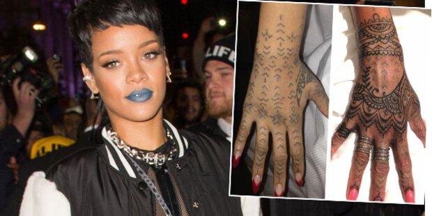 Rihanna lässt Maori-Tattoo überstechen