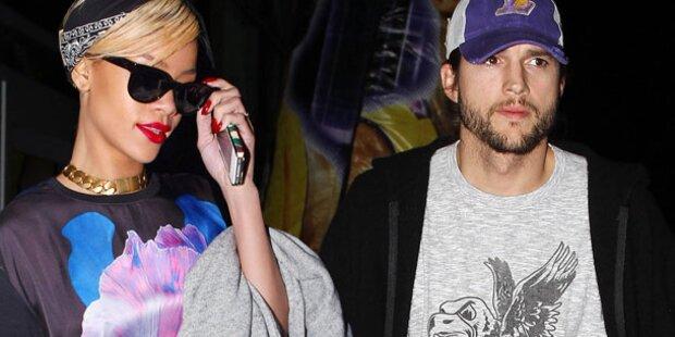 Rihanna mitten in der Nacht bei Kutcher