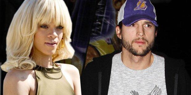 So streitet Rihanna Affäre mit Kutcher ab