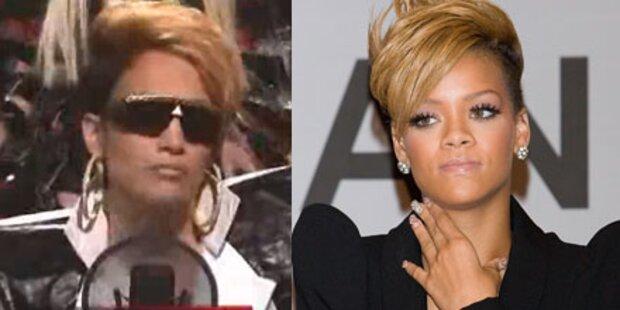 Latino-Diva als Rihanna verkleidet im TV
