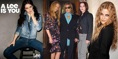 Elvis-Enkelin Riley Keough modelt für Lee