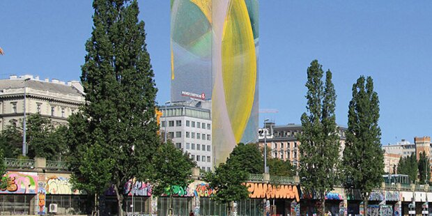 Arnulf Rainer verschleiert Ringturm