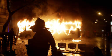 Rio de Janeiro Bus Feuer Lehrer