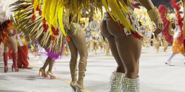 Karneval in Rio: Der Zuckerhut steht Kopf