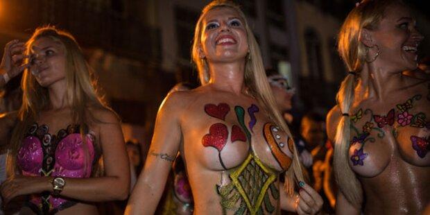 Karneval rio nackt