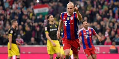 Robben-Elfer rettet Bayern Sieg gegen BVB