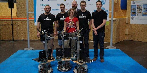Grazer beim RoboCup 2016 am Stockerl
